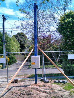 temporary power poles hire melbourne